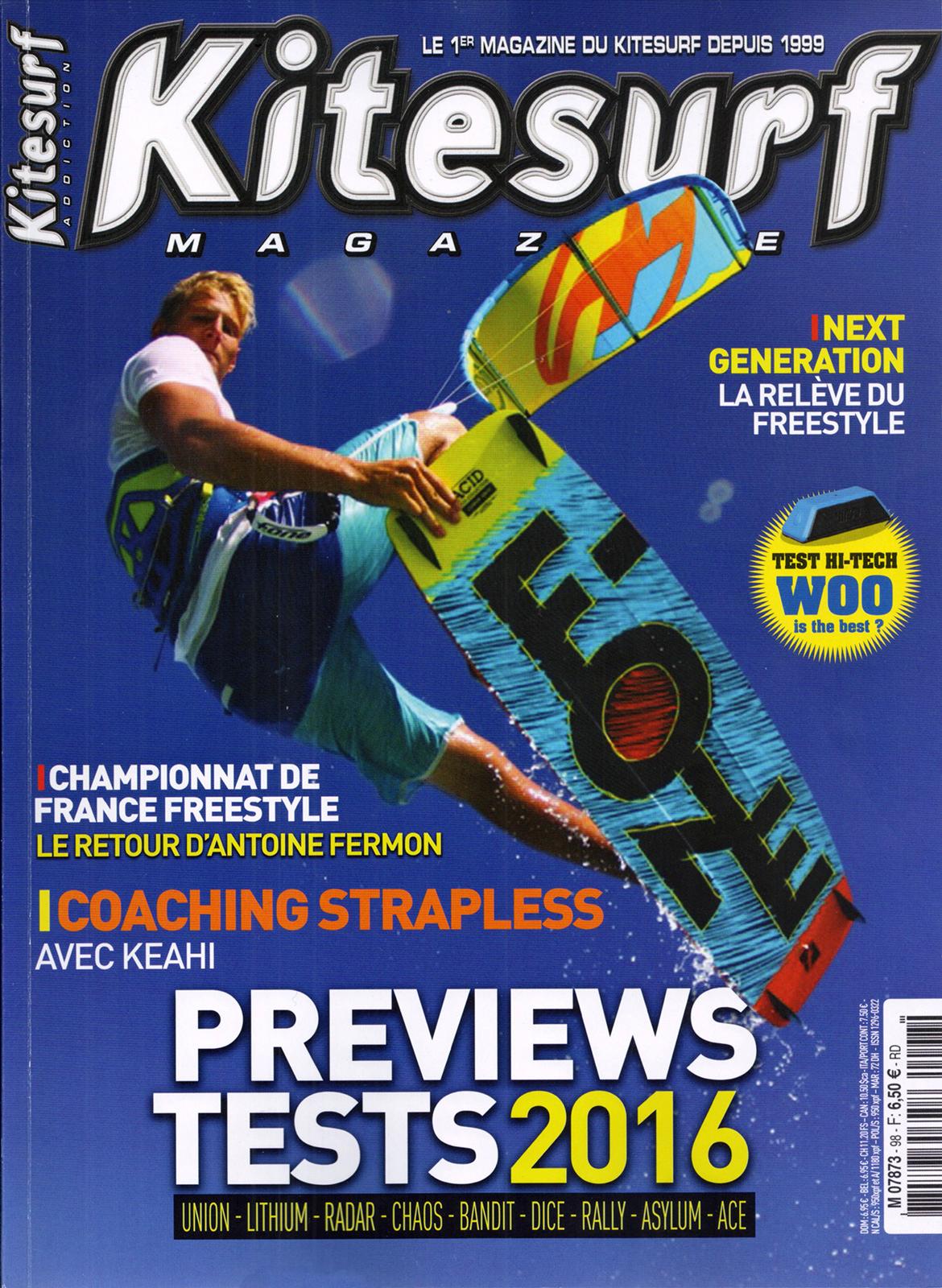 Kitesurf Magazine fait l'article sur le TKC2015