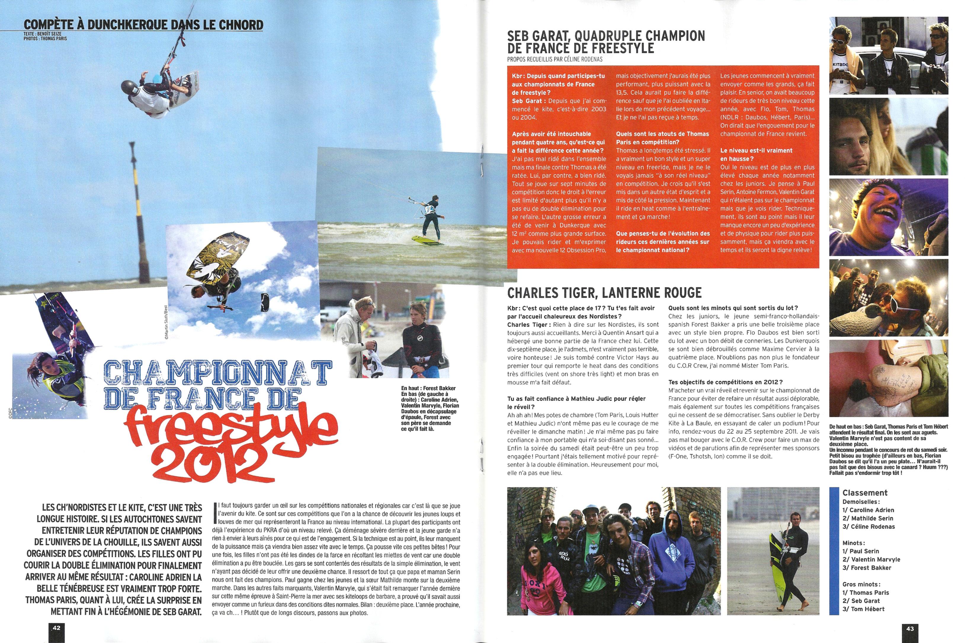 KITEBOADER fait l'article sur le C.F. Freestyle 2011